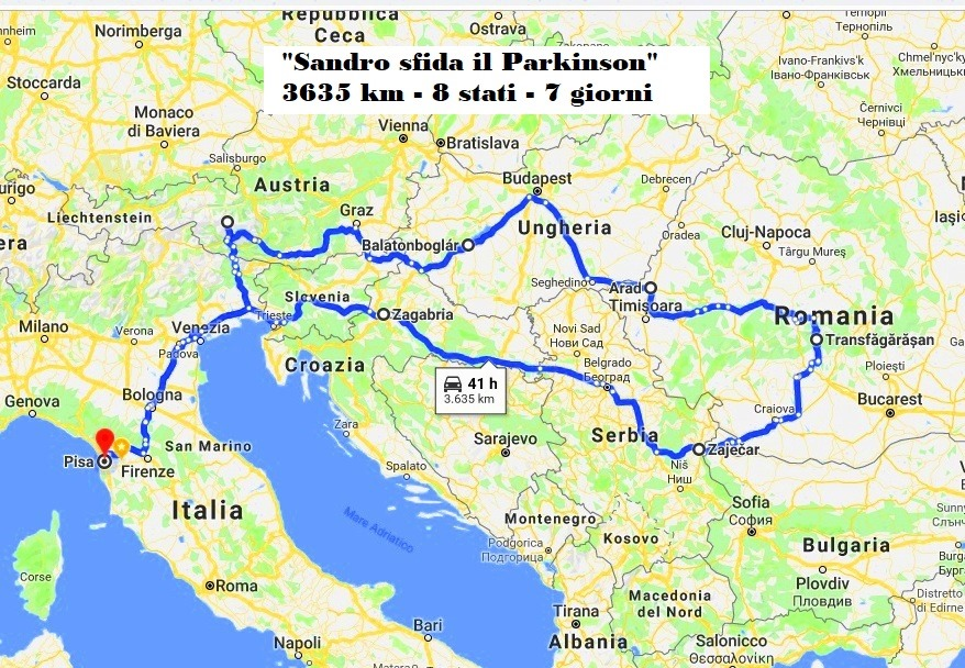 Il viaggio in moto di Sandro Paffi, 58enne malato di Parkinson, da Pisa alla Tranfagarasan in Romania