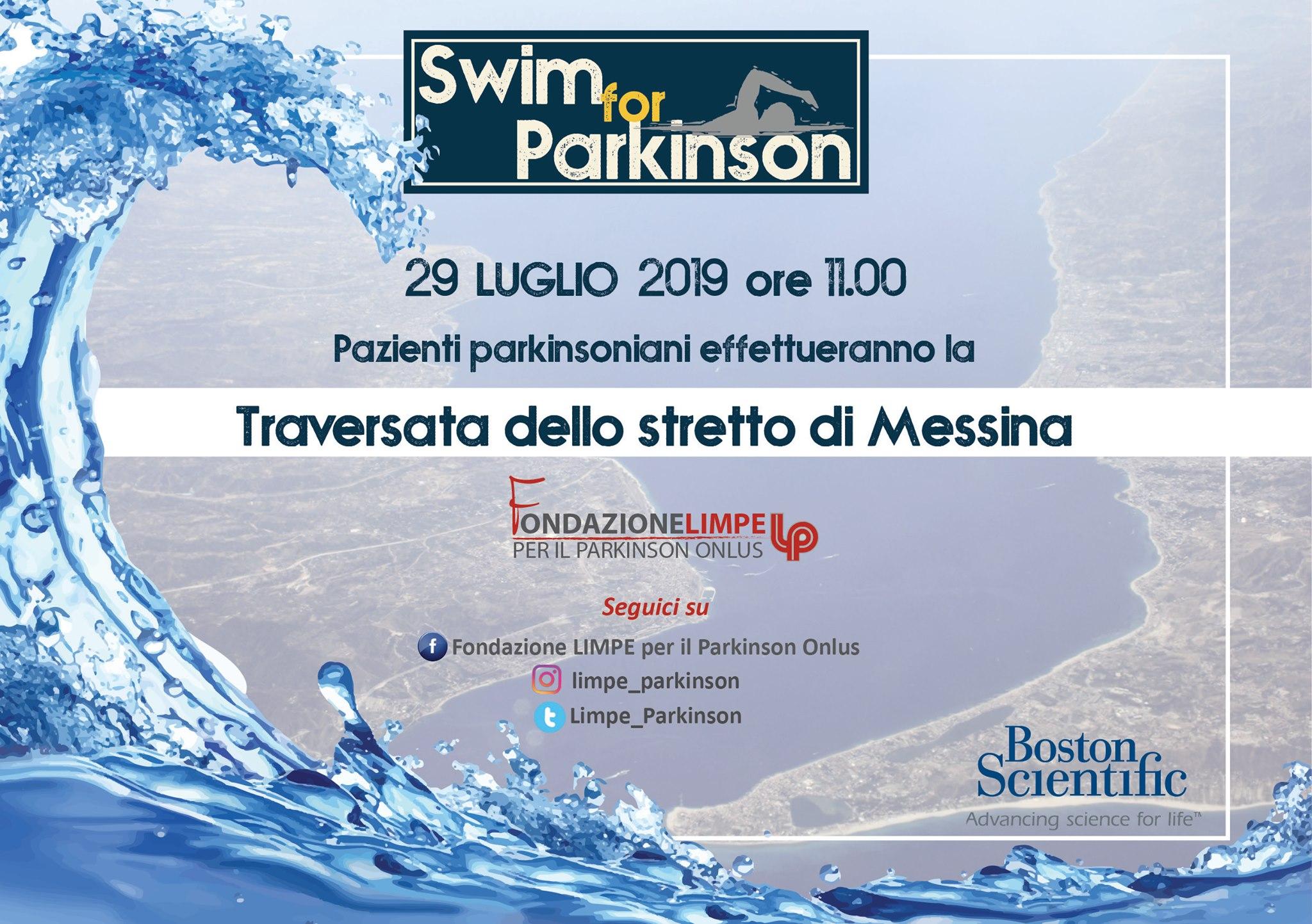 Swim for Parkinson-Traversata dello Stretto di Messina-29 luglio 2019