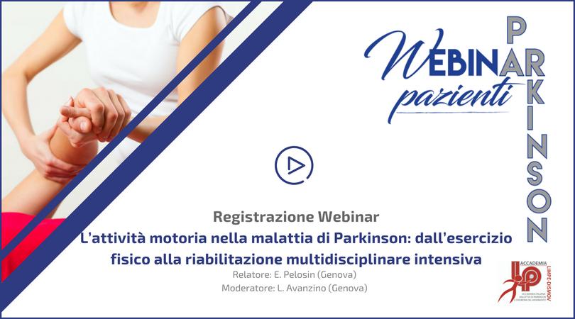 Webinar LIMPE-DISMOV – L'attività motoria nella Malattia di Parkinson