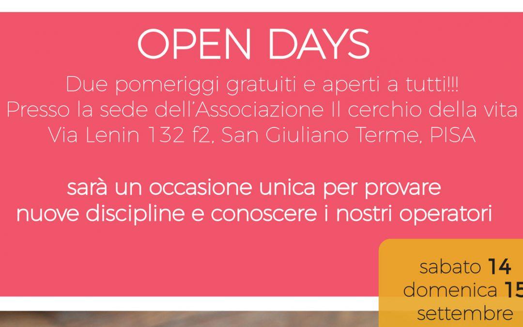 Open Days al Cerchio della Vita – Sabato 14 e Domenica 15 Settembre