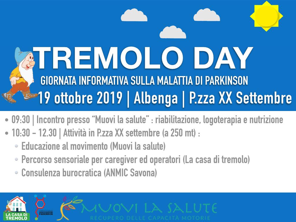 19 ottobre 2019_Tremolo Day a Albenga_Giornata informativa sul Parkinson