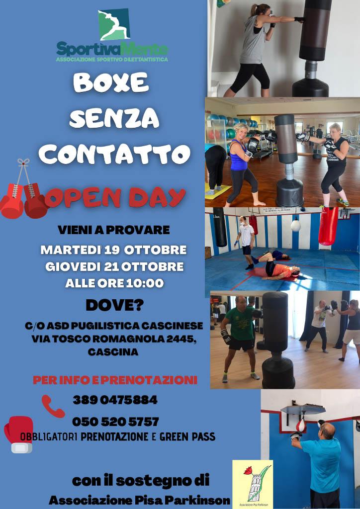SportivaMente_Boxe senza contatto a Cascina (Pisa)_Open Day_19 e 21 ottobre 2021