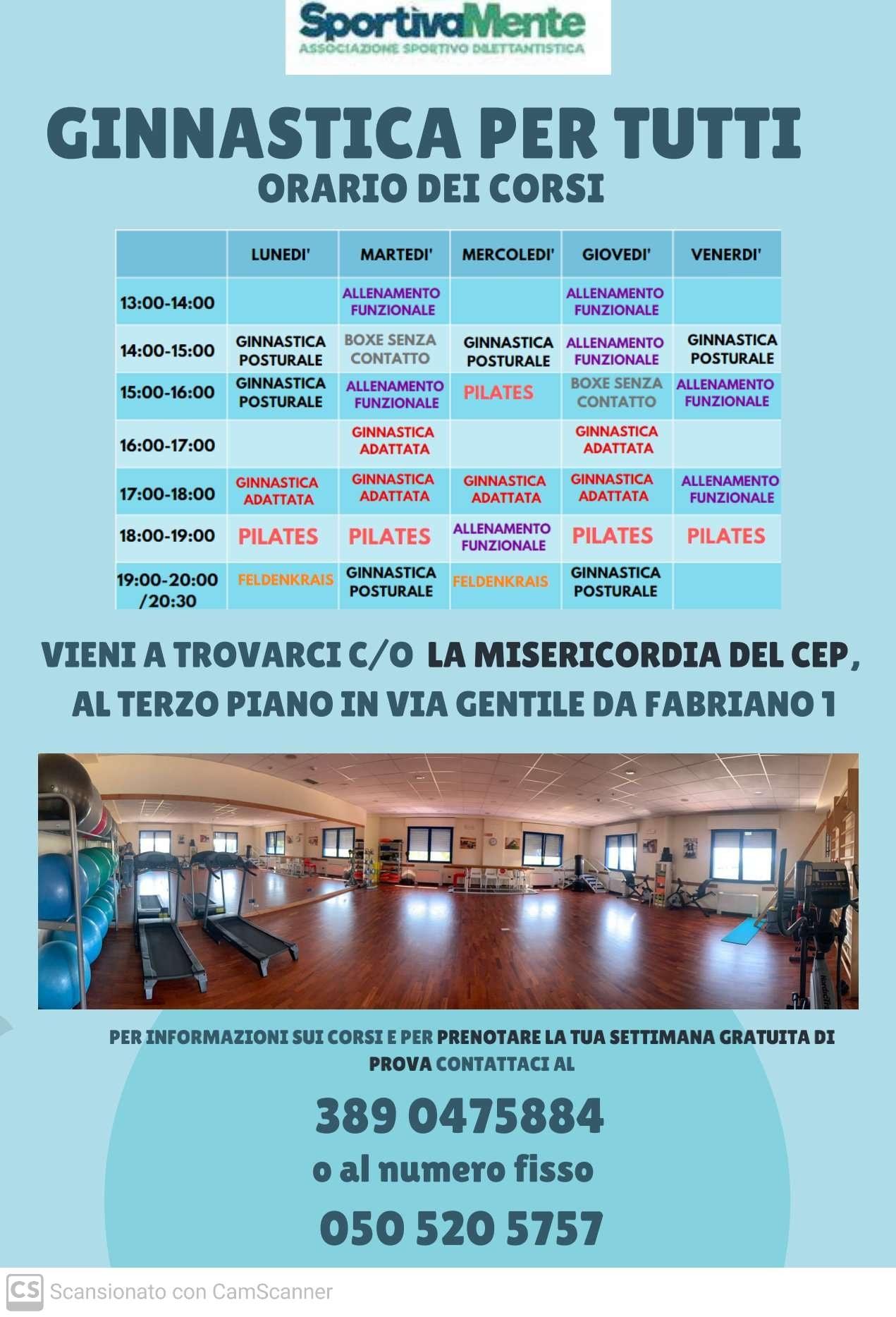SportivaMente_Pisa_Ginnastica per tutti